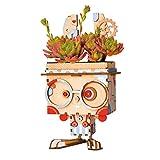 3D Wood Puzzle Home Decor Gift Cute Kaninchen Wood Flower Pot