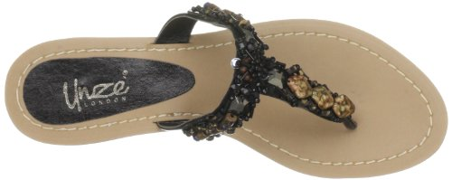 Unze Evening Slippers, Scarpe chiuse donna Nero (Schwarz (L18498W))