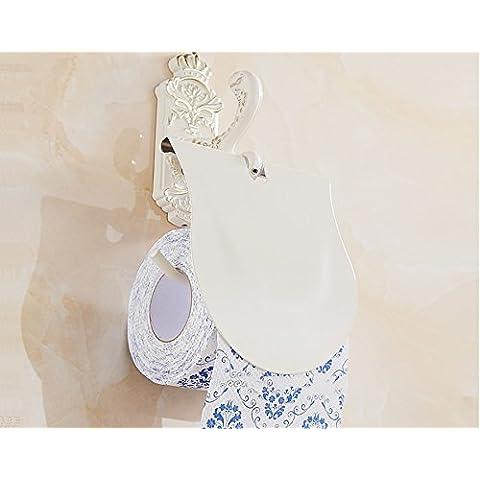 KA-ALTHEA colgante de bastidor higiénico titular de toalla de papel toalla de bastidor soporte de rollo de papel higiénico titular de la cesta de la antigüedad de tocador del cuarto de baño artículos de higiene personal de soporte de papel Continental almacenamiento de accesorios de baño estante de baño toallero Continental rollo de papel higiénico de oro tejido titular de aseo caja de papel higiénico titular de pintura blanca a la plancha - Aseo retro estante de papel titular de toalla de