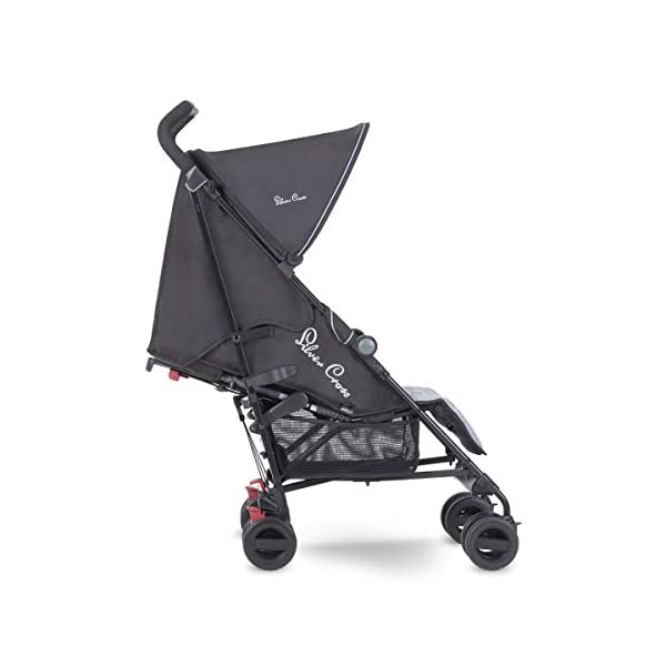Silver Cross Zest Powder Blue Silver Cross Ultra lightweight zest pushchair, weighing in at only 5.8kg, is suitable from birth up to 25kg It has a convenient one-hand fold, while the compact design makes it easy to store The fully lie-flat recline is best in its class 2