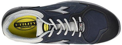 Diadora Herren Samba Super Sneaker Low Hals Schwarz (Blu Profondo/grigio)