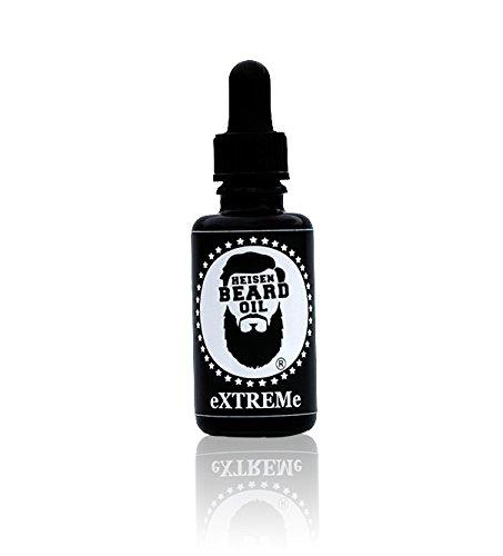Heisenbeard Bartöl Extrem 30 ML - natürliche Bartstärkung mit Rizinusöl, Arganöl und Sesamöl - versorgt die Barthaare mit aufbauenden Vitaminen und verleiht einen magnetischen Heisenbeard Duft