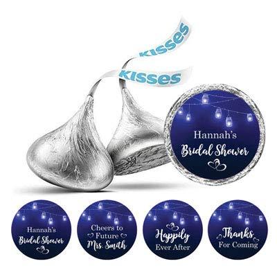 nur-Licht-Brautparty-Blau Sticker Hershey Kisses Süßigkeit Labels 190 Pcs ()