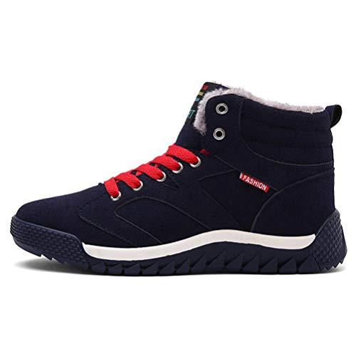 Schaffell Tall Boots (Qianliuk Männer Schnee Stiefel Mode Winter warm halten Stiefel plüsch Stiefelette Schnee Arbeitsschuhe Casual Stiefel)