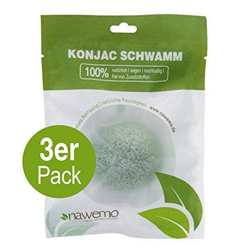 Éponge Konjac à l'aloès, pour la peau sèche (Pack de 3)