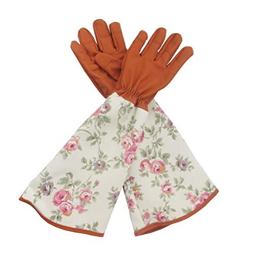 GFYWZ Damen Gartenhandschuhe, Rose Prunching Handschuhe Atmungsaktiv Thorn Proof Gartenarbeitshandschuhe, Lange 45CM, um Ihre Arme bis zum Ellbogen zu schützen,A,5pair 810 Rosen