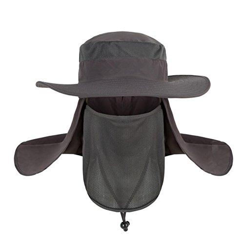 SHARK ARMY Sombrero Caza Gorro Al Aire Libre Sombrero de Sol con Cuello Cara Protección UV para Acampar Excursiones Aventuras para Hombre y Mujer MHB010