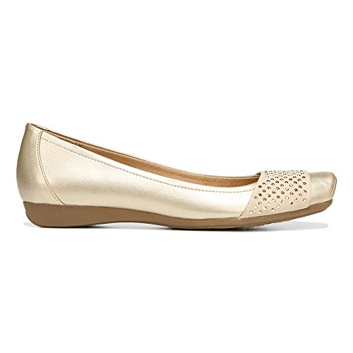 Naturalizer Vine Femmes Large Synthétique Chaussure Plate gold