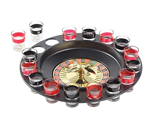 Ohuhu, Drum Wheel con 16 Shooter Glasses Game Set