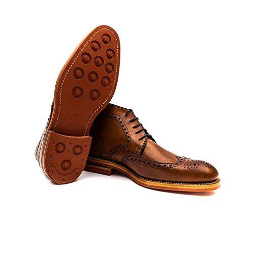 Loake Hommes Cognac Reading Claridge Brogue Ankle Bottes Cognac