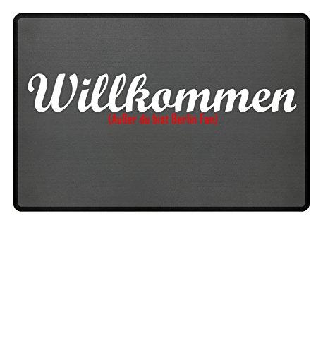 Fußmatte Anti Berlin in grau - Lustige Fußball Schmutzfangmatte gebraucht kaufen  Wird an jeden Ort in Deutschland