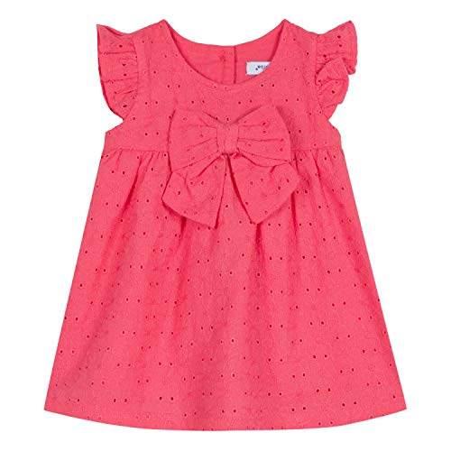 Absorba 9N30172 Dress Robe, Rose (Mid Pink 34), Naissance (Taille Fabricant:1M) Bébé Fill