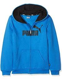 Puma ESS Logo FL Sweatshirt, Niños, Strong Blue, 152