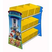 Paw Patrol Wooden Look Out Toy Organiser Bookshelf Storage Toy Box- Everest, Chase, Marshall, Skye, Rocky, Zuma