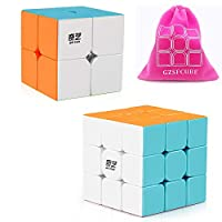 Qiyi Qidi S 2x2 Speed Cube Qiyi Warrior W 3x3 Magic Cube Puzzle Toys Stickerless