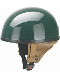 redbike Casco RB 500Racing Green/Black–Chopper semi-integral Casco Retro Casco Moto Casco braincap Vintage Casco, Racing Green, M (57-58 cm)