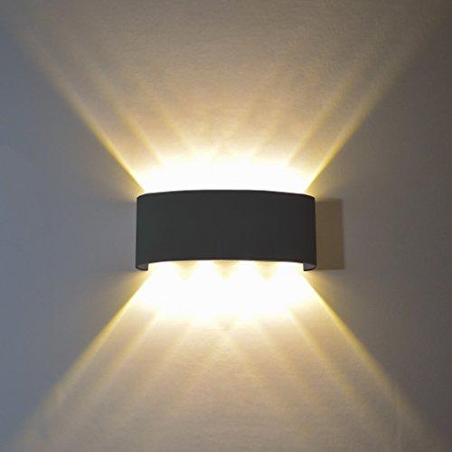 FLYDEER Lampe Murale LED 8W Moderne Applique Murale Interieur Exterieur Aluminium Imperméable Applique Murale LED Up Down Lampes pour Salon Chambre Hall Escalier Pathway