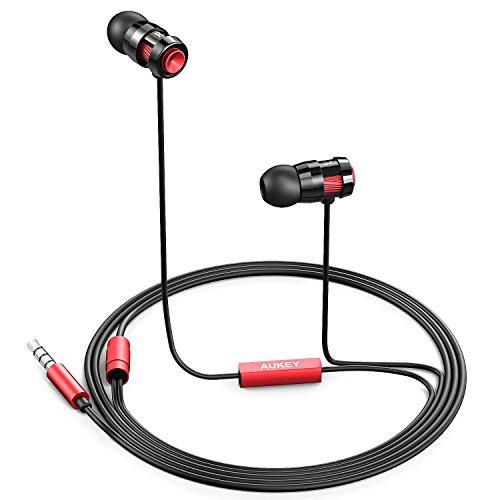Auriculares con micrófono en línea de alto rendimiento, caja metálica, micrófono para móvil, tablet, PC, MP3, ordenadores y otros dispositivos con salida de Audio de 3,5 mm.