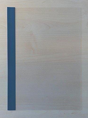 Preisvergleich Produktbild POV® Abdeckfolie satiniert, mit Kartonrand in Lederstruktur für Surebind, Farbe dunkelblau, 100er Pack