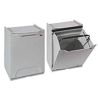Abfalleimer aus Harz Modulares. Für Mülltrennung. Farbe grau.