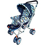 [Sponsored]Techhark Baby Stroller And Pram For Baby With Sun Ruff And Back Pocket (Cloth Design May Very)