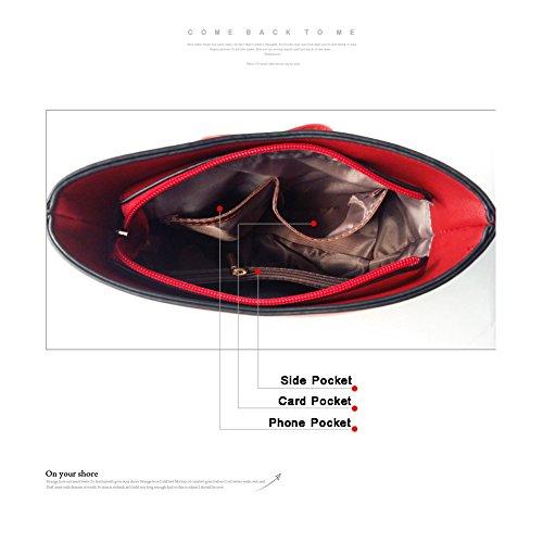 Sacchetti alla moda di grande capacità Yoome Cross modello per le donne borse dell'annata per le ragazze sacchetto di sacchetto di trucco - rosso Marina Militare