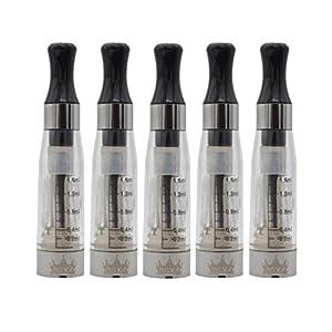 NOVEL™ 5 X CE4 CLEAROMIZER (Atomizer-Verdampfer) 2.4 Ohm/1.6 ml-mit langen Dochten – austauschbare Köpfe – für die elektronische Zigarette (e-Zigarette) EGO-T/EGO-C/EGO-W/510 eGo Gewinde-KLAR