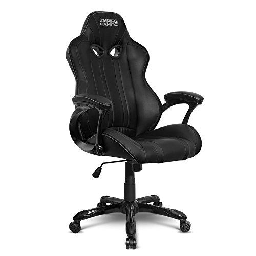 Empire gaming - poltrona gamer racing 600 series nera - modello sedia avvolgente sport - braccioli ultra-comodi e morbidi