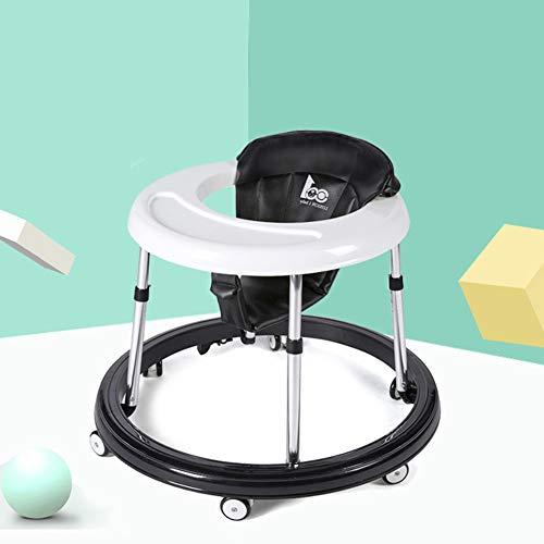 Andadores ajustables para bebé con bandeja fácil de limpiar y frenos dobles, seis andadores universales...