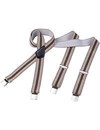 DonDon® Herren Hosenträger 3,5 cm breit mit 4 extra starken matt gebürsteten Clips in X-Form