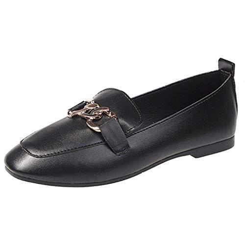 r Sandalen Bohemian Flach Sandaletten Sommer Strand Schuhe,Frauen Frühling Herbst Schuhe Square Head Flat Bottom Casual Schuhe Single Schuhe ()
