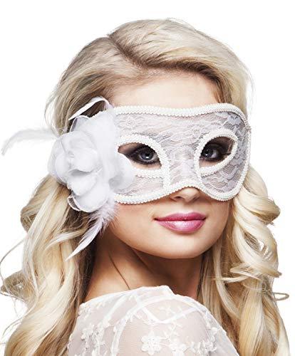 Boland 97529 Spitzen Augenmaske Mystique, Weiß