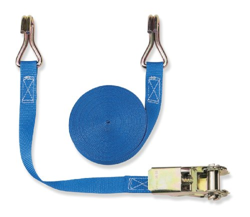 Braun Pulpo con hebilla y ganchos para baca (800 daN, 2 piezas, 4 m, 25 mm de ancho), color azul
