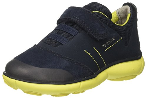 Geox j nebula a, scarpe da ginnastica basse bambino, blu (navy/lime), 29 eu