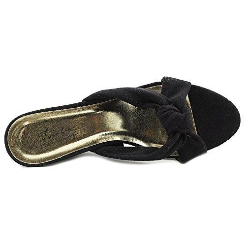 Thalia Sodi Alyssa Toile Sandales Compensés Black