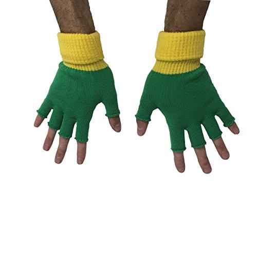 MyPartyShirt Ash Ketchum Trainer Fingerless Gloves (Pair) (Ash Ketchum Kostüm Für Erwachsene)