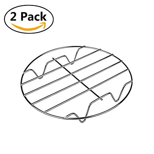 OWIKAR 2Pack Cooking Rack Multi-Function Stainless Steel Steaming Cooling Fryer Rack Baking Stand Holder Cookware Fit for Air Fryer Instant Pot Pressure Cooker Canning Kitchen Accessories