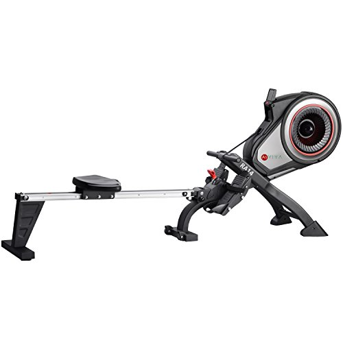 41qbMKU4lhL. SS500  - AsVIVA RA14 Magnetic Rower Rowing Machine, Cardio with 10 kg Flywheel and Magnetic Brake with 8 Manual Resistance Levels, Multi-Function Computer with Heart Rate Monitor
