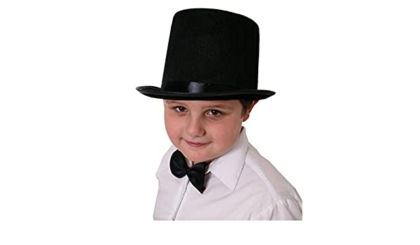 6828b516a95 CHILDRENS BLACK TOP HAT VICTORIAN OLD ENGLAND MAGICIAN PERFECT FOR ANY FANCY  DRESS PARTY FOR BOYS ...