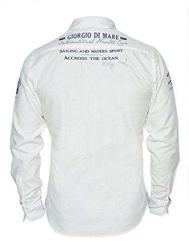 Giorgio Di Mare - Chemise casual - Uni - Homme Blanc