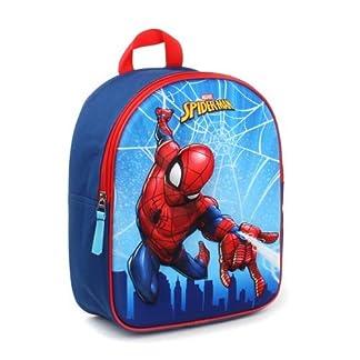 41qbNDeudIL. SS324  - Marvel Spider-Man Mochila Infantil, 31 cm, 9 Liters, Azul (Blue)