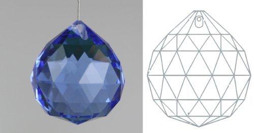 Davidson Lighting 30mm 24% lead Crystal Ball Prism - 1.18 Dark Blue Suncatcher by Davidson's Tea -