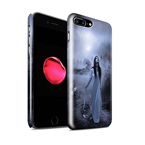 Officiel Elena Dudina Coque / Clipser Brillant Etui pour Apple iPhone 8 Plus / Vent/Orage/Forêt Design / Magie Noire Collection Autel/Rituel/Décès