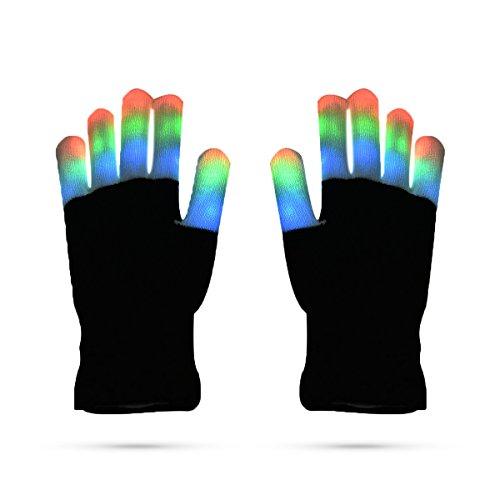 LED Handschuhe Flash-Handschuhe Fingerspitzen Beleuchtung Handschuhe Tanz Requisiten bunte leuchtende Handschuhe - (Hop Kostüme Neue Hip)