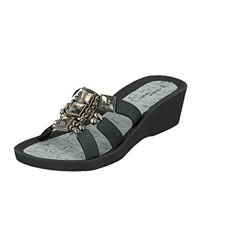 Linea Scarpa Samoa Tongs de Piscine Mules et Chaussures Décontractées Femmes Noir