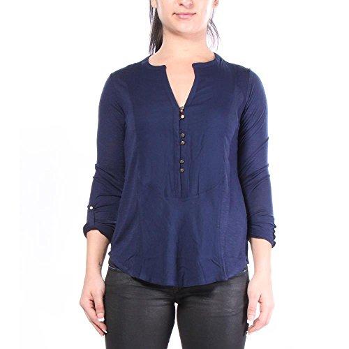 Lucky Brand Woven Mixed Henley T-shirts V-Neck XS Damen