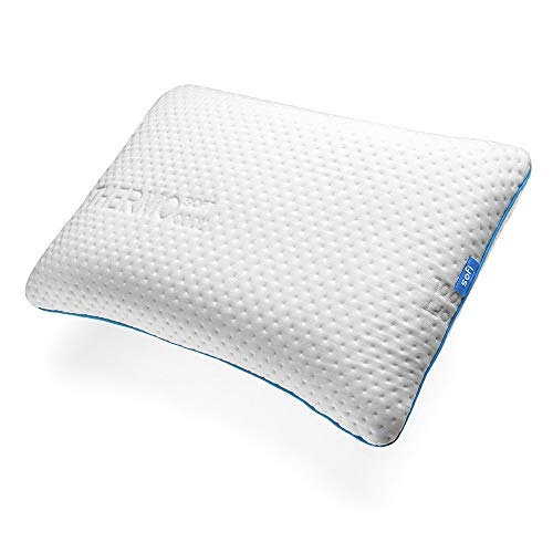 sofi Rückenschläfer Kissen - Orthopädisches Kopfkissen aus Visco-Gelschaum für Rücken- und Seitenschläfer - Thermoregulierender Bezug