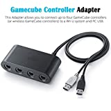 Leoie Adapters USB Gamecube Controller Adapter Converter for Wii U Nintend Switch and PC