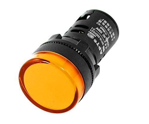 SKNSM 24V LED Betriebsanzeige Pilot Single Light Lampe Indicator Hellgelb -