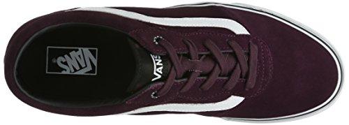 Vans M Milton, Sneakers Hautes homme Rouge Vin/ Blanc (Wine/White)